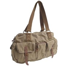 Fashion canvas shoulder bags for men and women canvas sport duffel bags manufacturer China