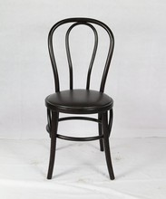 HENRY Furniture Black Wooden Thonet Chair With Cushion