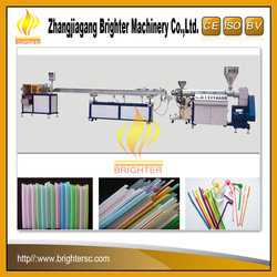New Type Hot Sale High Output 1/2/3 Color Drink Straw Machine Production Line PP PE Drink Straw Extruder Machine