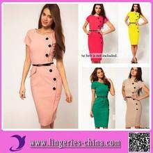 2015(MF3125) Wholesale Cheap Accpet Paypal Custom New Lady Woman Fashion Dress