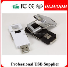 Free sample Stock Products Status Promotional Gift Plastic Swivel usb flash drive from 128MB to 8GB