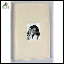 Ingrosso 4x6/10x15 300 panno di camoscio foto album di matrimonio con bella cornice finestra