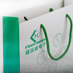 Custom GreenPaper Bag Printing, Made in China, Company Advertising Paper Bag