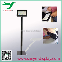 promotion portable floor tablet stand outdoor display case