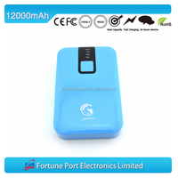 New model fashion battery charge indicator car battery charge machine 12000mah