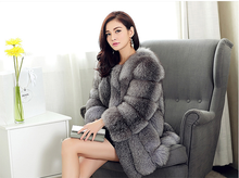 2015 popular real fox fur coat with many colors