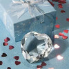 heart shape crystal diamond wedding centerpiece