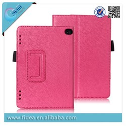 Litich kickstand pu leather case for Kindle Fire HD7