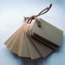 Wood Gift Tags / Blank Wooden Tags for Wine, Decor, Weddings 50pcs a string