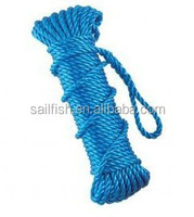 thin ropes blue ropes 3-strand PP ropes in China