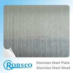 Hairline surface 201 0.5mm stainless steel sheet for decoration
