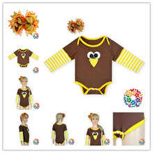 2015 New Baby Halloween Rompers Long Sleeve Romper Set Baby Girls Cute Jumpsuit With Matched Hair Clip