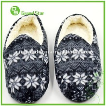 Jacquard Warm Fur Cotton Snow Outdoor/ Indoor Unisex Slipper Shoes