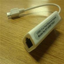 Interfaz de red y la señal de datos mini- adaptador usb para rj45