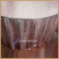 SQN#24 fancy wedding decor rose gold sequin table linen