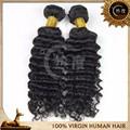 20 pulgadas remy virginal brasileña del pelo de la onda profunda / rizado armadura del pelo