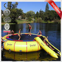 Hot inflatable donut trampoline bridge/water sport