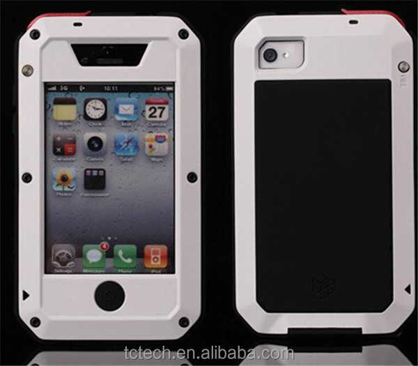 Top selling gorrila glass aluminum waterproof case for iPhone 5, for iphone 5/5s case