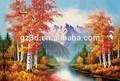 flor de belleza lenticular 3d de impresión colgando de la pared de imagen para la decoración del hogar