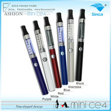 Sinca Newest 510 CE4 clearomizer 1.3ml with ego mini CE4 510 style new battery, slim shape, various color