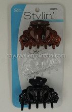 Hot sale 3 pcs plastic hair claw clips and hair clips for thick hair