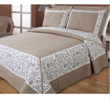 European styles Brown Classical embroidery bedroom set, air conditioning bedspread ,Patchwork quilt