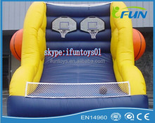 free throw inflatable basketball / inflatable basketball goal / portable inflatable basketball goal