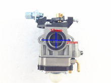 2 stroke 40-5 Carburetor fit for 47cc 49cc pocket bike with metal plate