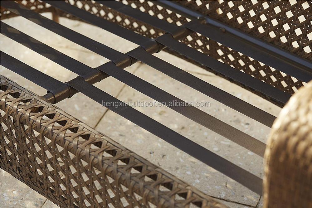 Hengxin Высокое качество открытый сад pe ротанга портативный Патио крыльцо дворе отдыха диван