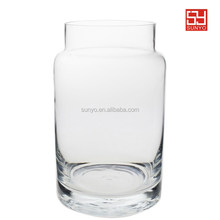 Hand made Vintage Hungarian Storage Jar clear Glass Vase