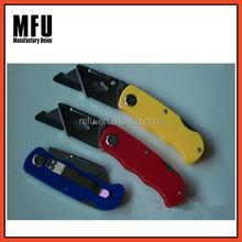 MFU Safety plastic handle folding utility knife / knife folding