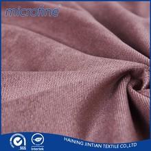 Popular plaid Polyester soft velboa fabric for garments