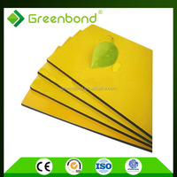 Greenbond outdoor wall panels with water resistant sheet materials