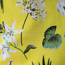 Linen Mix Digital Printing Fabric Bright Yellow Curtain Fabric Cotton Upholstery Furniture Blind . Free Samples Available