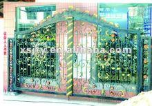 puerta de hierro forjado moderna de hierro forjado puerta del jardín