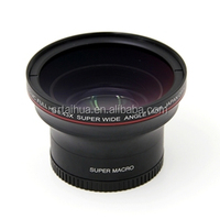 52mm 0.43x wide angle lens with Macro camera additional lens with UV HD LENS