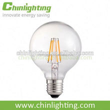 led big ball bulb g95 filament bulb globe glass for chandelier g95 g125 680lm g95 6w e27 filament led bulb