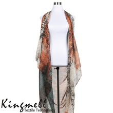 2015 Customizable Digital Printed Polyester scarf shawl with Pattern Design Service