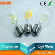 patent product 4W 10w e12 led lamp bulbs /Ra>80 e26 led candled bulb/360 degree led filament bulb