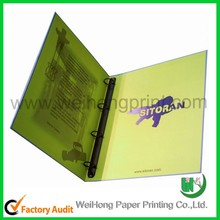2015 Custom printed thick foldable paper file folder wholesale