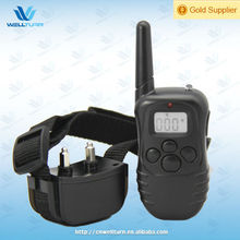 Black ABS LCD Vibration Shock 300m remote electrical dog trainer