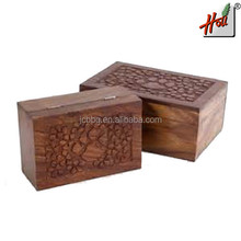 Super quality wooden Pet Urn Box For Sale HCGB8125