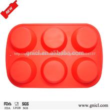 Herramientas de pastel decoraciones de silicona de grado alimenticio eco- ambiente muffin pan redondo de color