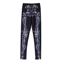 Full sublimation printing sexy women tights lycra yoga pants fabric
