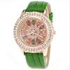 luxury cat eye diamond watch,leather watch band women