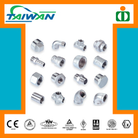 Taiwan high quality pvc pipe saddle clamp fitting, stainless steel socket fitting female threaded, fence pipe fittings
