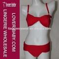 Carismática vendaje drapeado push-up Skimpy cadena Extreme String Bikinis 2014