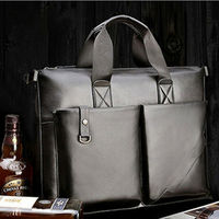 2012 custom men genuine leather shoulder handbags