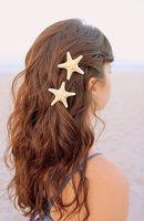ou3978 hair ornaments crochet knitted,Fashion Sea Shell Chain Hair Clip Barrette Types Accessory