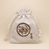 Fashion Linen Sack Drawstring Flax Pouch,linen jewelry pouch with embroideried logo